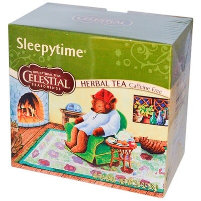 лучшая цена Травяной чай, без кофеина, Sleepytime, 40чайных пакетиков, 58г