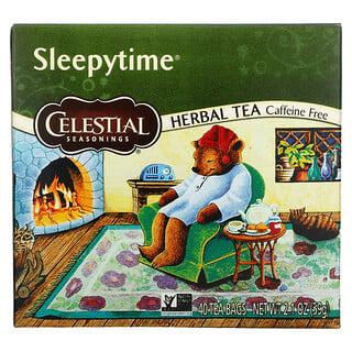 Celestial Seasonings, Herbal Tea, Sleepytime, Caffeine Free, 40 Tea Bags, 2.1 oz (59 g)
