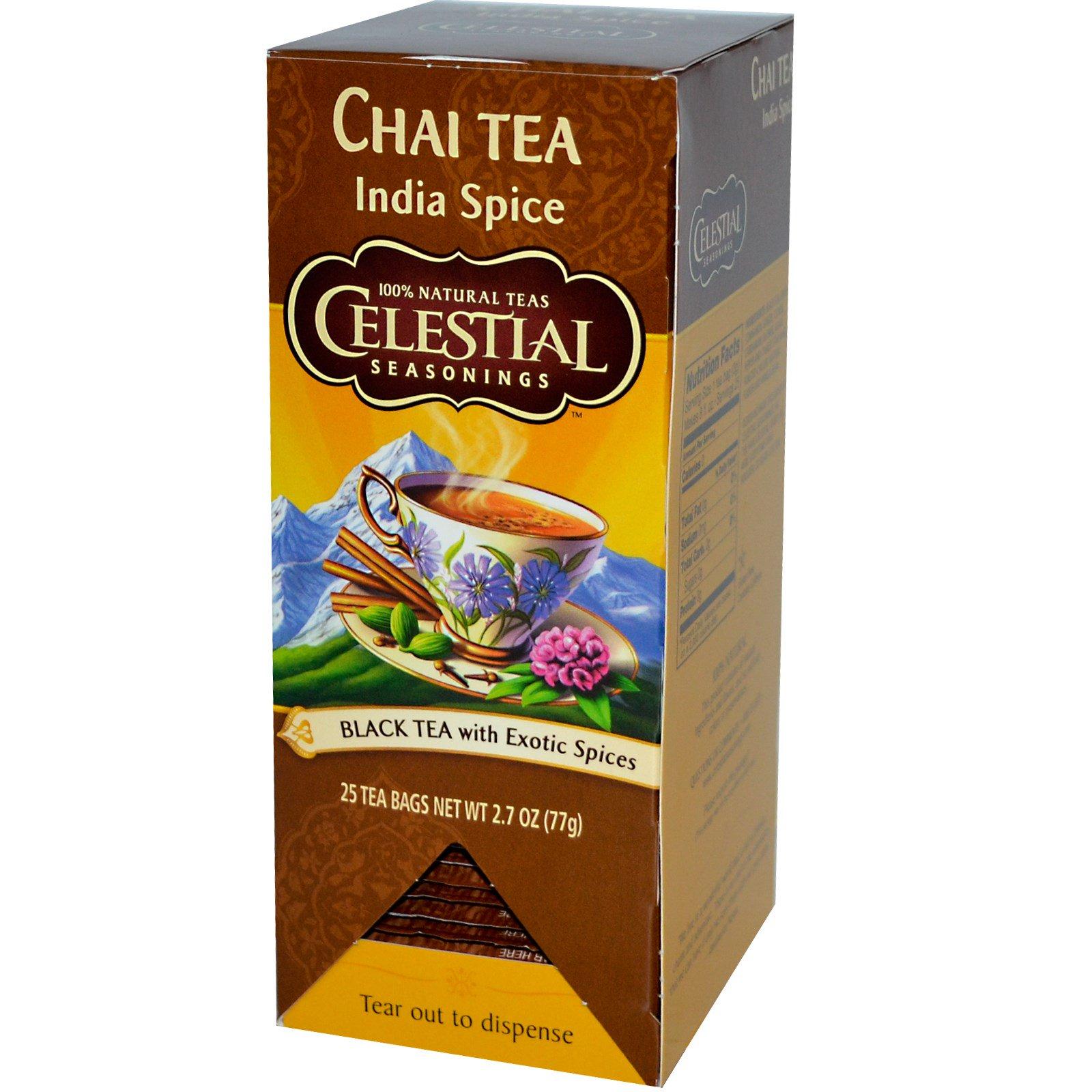 Celestial Seasonings, Chai Tea, Indian Spice, 25 Tea Bags ...