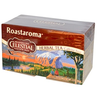 Celestial Seasonings, Herbal Tea, Roastaroma, Caffeine Free, 20 Tea Bags, 3.2 oz (92 g)