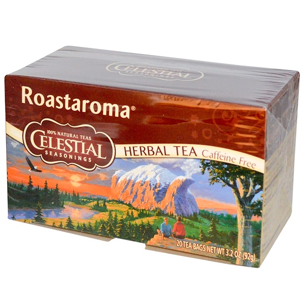 Celestial Seasonings, Herbal Tea, Roastaroma, Caffeine Free, 20 Tea Bags, 3.2 oz (92 g) (Discontinued Item)