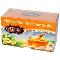 Травяной чай, без кофеина, мед, ваниль и ромашка 20 чайных пакетиков, 1.7 унции (47 г) - фото