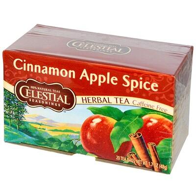 Вкус корицы и яблока, без кофеина, 20чайных пакетиков, 48г
