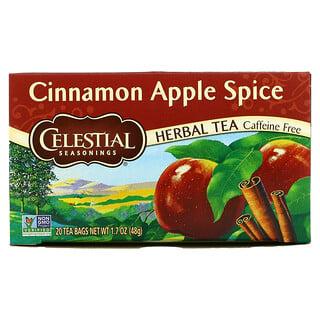 Celestial Seasonings, Herbal Tea, Cinnamon Apple Spice, Caffeine Free, 20 Tea Bags, 1.7 oz (48 g)