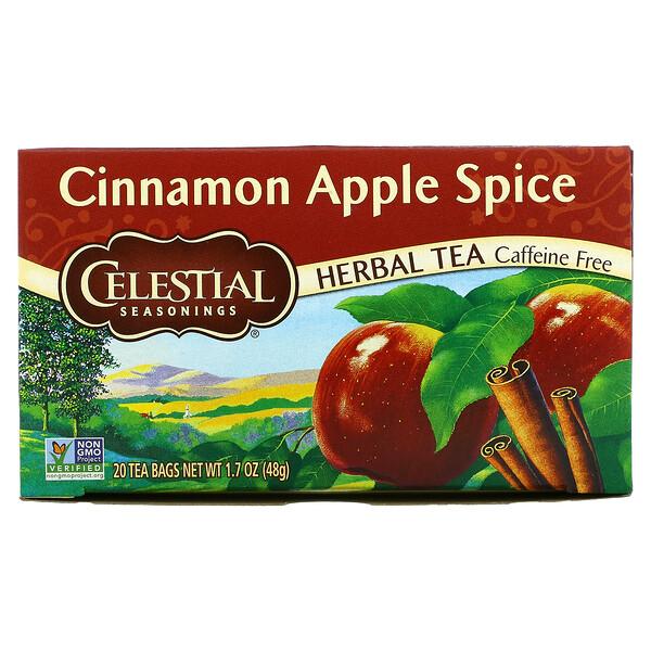 Herbal Tea, Cinnamon Apple Spice, Caffeine Free, 20 Tea Bags, 1.7 oz (48 g)
