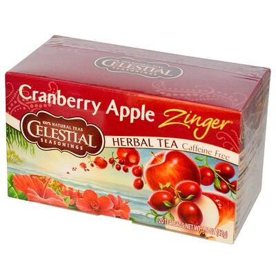 Купить Травяной чай без кофеина c клюквенно-яблочным вкусом, 20 чайных пакетиков, 1.5 унции (42 г)