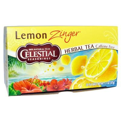 Купить Celestial Seasonings Травяной чай, без кофеина, Лимонное чудо, 20 пакетиков, 1, 7 oz (47 г)