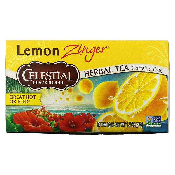 Té de hierbas, LemonZinger, Sin cafeína, 20bolsitas de té, 47g (1,7oz)