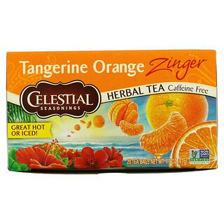 Celestial Seasonings, Herbal Tea, Tangerine Orange Zinger, Caffeine Free, 20 Tea Bags, 1.7 oz (47 g)