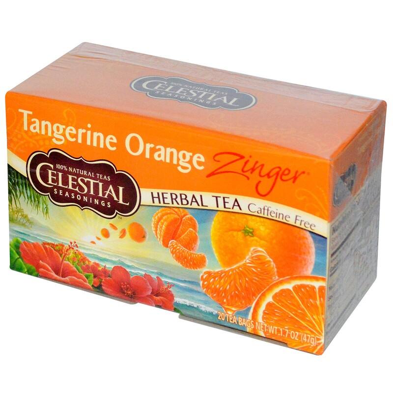 Herbal Tea, Caffeine Free, Tangerine Orange Zinger, 20 Tea Bags, 1.7 oz (47 g)