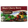 Celestial Seasonings, Chá Herbal, Cereja Negra, Sem Cafeína, 20 Saquinhos de Chá, 44 g