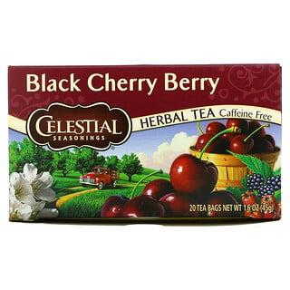 Celestial Seasonings, Herbal Tea, Black Cherry Berry, Caffeine Free, 20 Tea Bags, 1.6 oz (45 g)