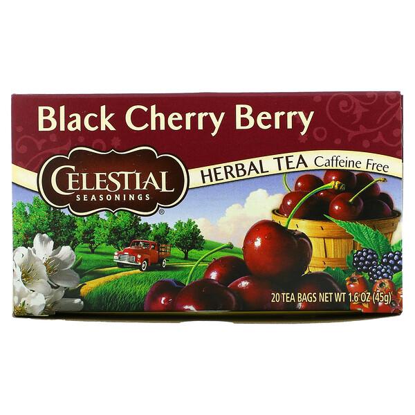 Chá Herbal, Cereja Negra, Sem Cafeína, 20 Saquinhos de Chá, 44 g