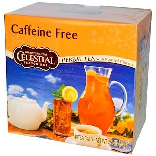 Celestial Seasonings, Herbal Tea With Roasted Chicory, Caffeine Free, 40 Tea Bags, 2.6 oz (74 g)