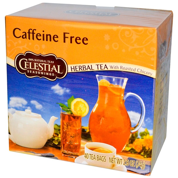 Celestial Seasonings, Herbal Tea With Roasted Chicory, Caffeine Free, 40 Tea Bags, 2.6 oz (74 g) (Discontinued Item)