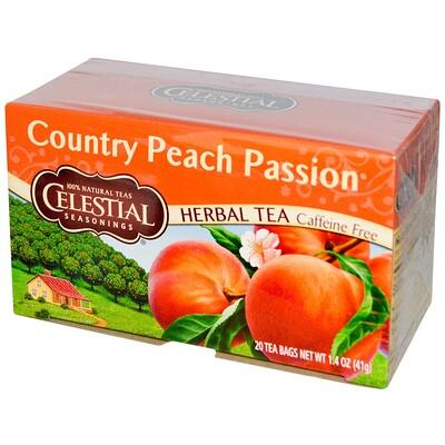 Купить Травяной чай, Country Peach Passion, без кофеина, 20чайных пакетиков, 41г