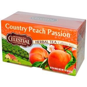 Селесчал Сизонингс, Herbal Tea, Country Peach Passion, Caffeine Free, 20 Tea Bags, 1.4 oz (41 g) отзывы покупателей