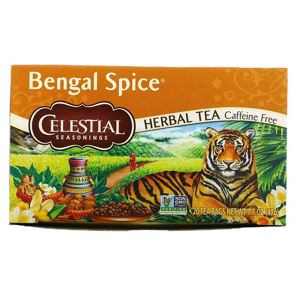 Celestial Seasonings, Травяной чай Bengal Spice, без кофеина, 20 чайных пакетиков, 47 г (1,7 унции)
