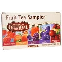 Набор фруктового чая Fruit Tea Sampler, травяной чай, без кофеина, 5 вкусов, 18 пакетиков, 1,4 oz (40 г) - фото