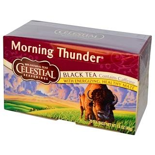 Celestial Seasonings, ブラックティー(紅茶)、モーニングサンダー、20ティーバッグ、1.4 oz (40 g)