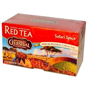 Селесчал Сизонингс, Red Tea, Safari Spice, Caffeine Free, 20 Tea Bags, 1.5 oz (43 g) отзывы