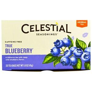 Селесчал Сизонингс, Herbal Tea, Caffeine Free, True Blueberry, 20 Tea Bags, 1.6 oz (45 g) отзывы покупателей