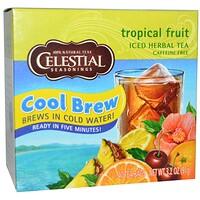 Холодный травяной чай Iced Herbal Tea, без кофеина, тропический фрукт, 40 пакетиков, 91 г - фото