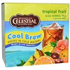 Celestial Seasonings, Té herbal helado, Sin cafeína, Fruta tropical, 40 bolsitas de té, 3.2 oz (91 g)