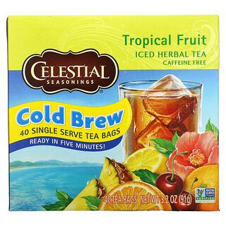 Celestial Seasonings, Iced Herbal Tea, Caffeine Free, Tropical Fruit, 40 Tea Bags, 3.2 oz (91 g)