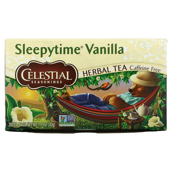 Herbal Tea, Sleepytime Vanilla, Caffeine Free, 20 Tea Bags, 1.1 oz (30 g)