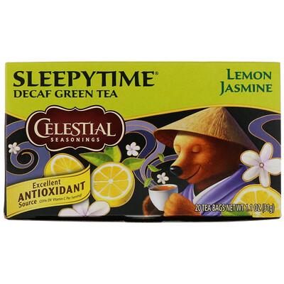 лучшая цена Sleepytime зеленый чай, лимон и жасмин, без кофеина, 20 чайных пакетиков, 31 г