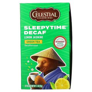 Celestial Seasonings, Té verde con limón y jazmín Sleepytime, Descafeinado, 20bolsitas de té, 31g (1,1oz)