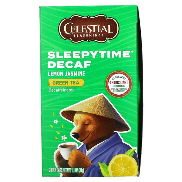Sleepytime Green Tea Lemon Jasmine, Decaf, 20 Tea Bags, 1.1 oz (31 g)