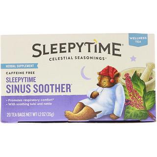 Celestial Seasonings, Sleepytime Sinus Soother, Wellness Tea, Caffeine Free, 20 Tea Bags, 1.2 oz (35 g)