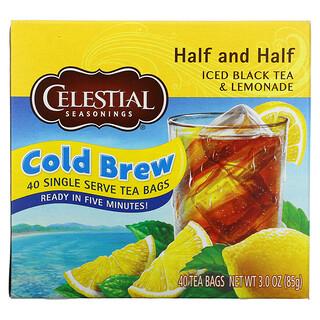 Celestial Seasonings, 冰紅茶和檸檬水,Half and Half,40 個茶包,3.0 盎司(85 克)
