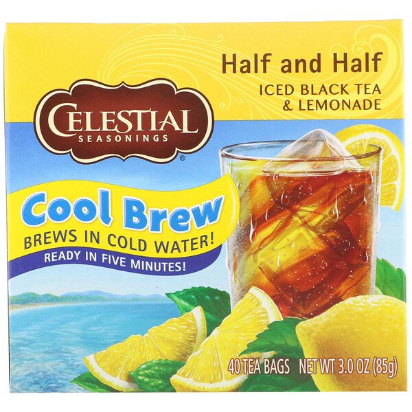 Celestial Seasonings, Iced Black Tea & Lemonade, Half and Half, 40 Tea Bags, 3.0 oz (85 g)