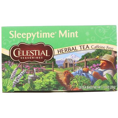 Купить Celestial Seasonings Травяной чай, мята для времени сна, без кофеина, 20 чайных пакетиков, 1 унция (29 г)