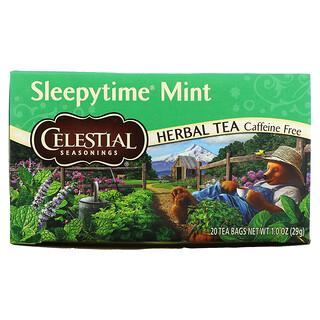 Celestial Seasonings, Herbal Tea, Sleepytime Mint, Caffeine Free, 20 Tea Bags, 1.0 oz (29 g)