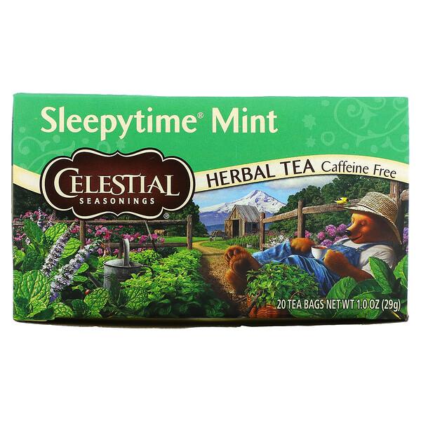 Tisane, sommeil Menthe, sans caféine, 20 sachets de thé, 29g