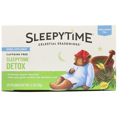 Купить Celestial Seasonings Оздоравливающий чай, детокс на сон грядущий, без кофеина, 20 чайных пакетиков, 1, 2 унции (35 г)