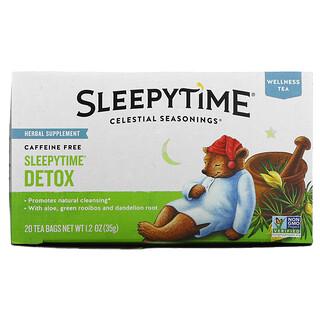 Celestial Seasonings, Wellness Tea, Sleepytime Detox, Caffeine Free, 20 Tea Bags, 1.2 oz (35 g)