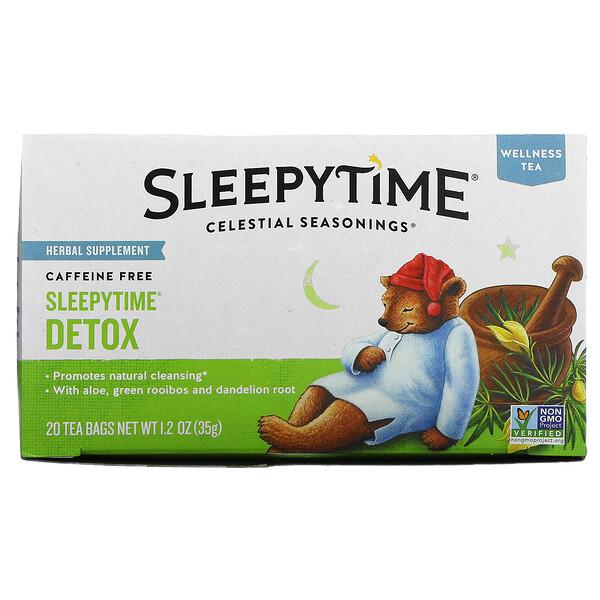 Wellness Tea, Sleepytime Detox, Caffeine Free, 20 Tea Bags, 1.2 oz (35 g)