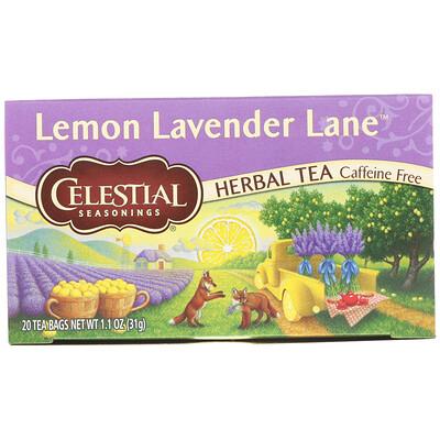 Celestial Seasonings Травяной чай, лимонно-лавандовый путь, без кофеина, 20 чайных пакетиков, 1, 1 унции (31 г)  - купить со скидкой