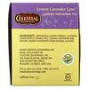 Celestial Seasonings, Té de hierbas, caminos de limón y lavanda, sin cafeína, 20 saquitos de té - 1,1 oz (31 g)