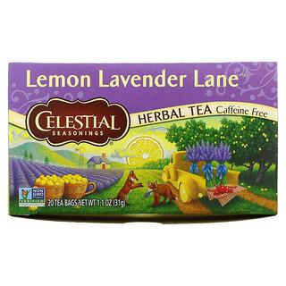 Celestial Seasonings, Herbal Tea, Lemon Lavender Lane, Caffeine Free, 20 Tea Bags, 1.1 oz (31 g)