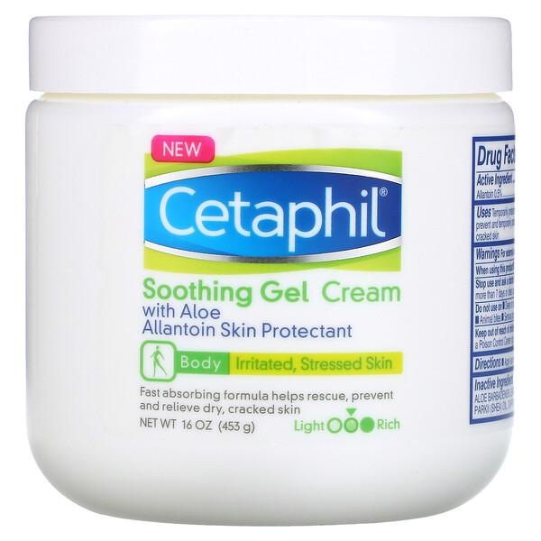 Cetaphil, Soothing Gel Cream with Aloe, Medium, Fragrance Free, 16 oz (453 g)