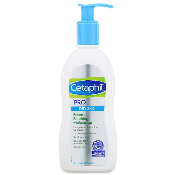 Cetaphil, Pro, Eczema Soothing Moisturizer, Dry Skin, 10 fl oz (296 ml)