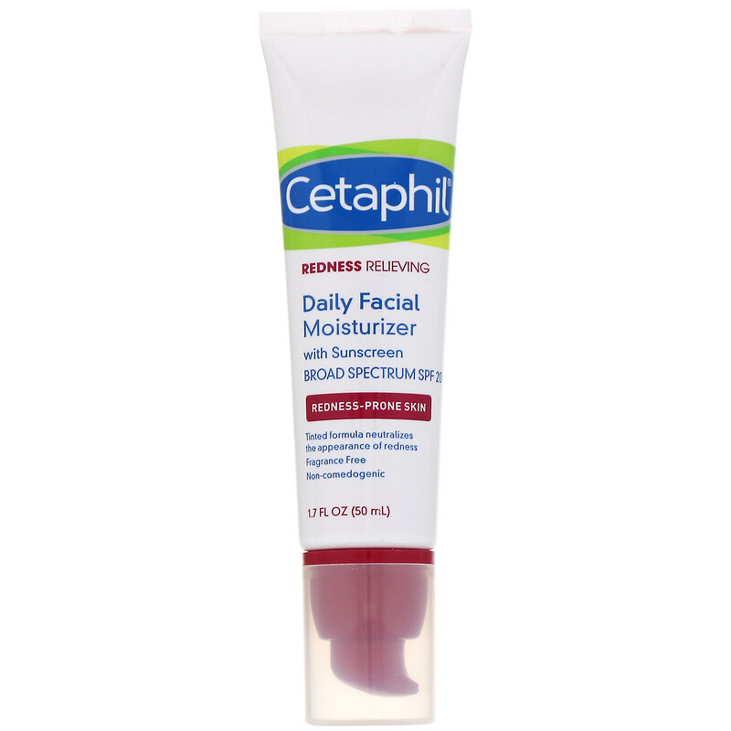 Cetaphil, Redness Relieving, Daily Facial Moisturizer, SPF 20, Neutral Tint, 1.7 fl oz (50 ml)