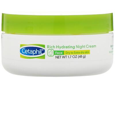 Купить Cetaphil Интенсивно увлажняющий ночной крем с гиалуроновой кислотой, 48г
