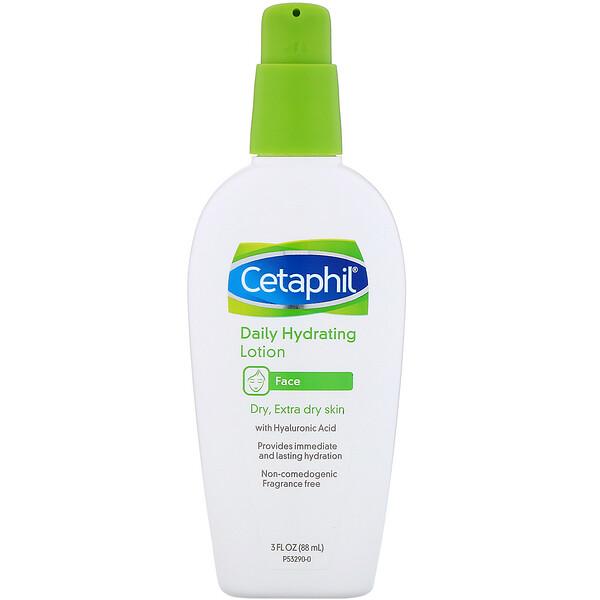 "Cetaphil, קרם לחות יומיומי עם חומצה היאלורונית, 88 מ""ל (3 אונקיות נוזל)"